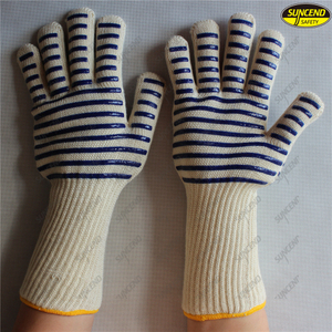 Aramid fiber heat resistant silicon BBQ gloves