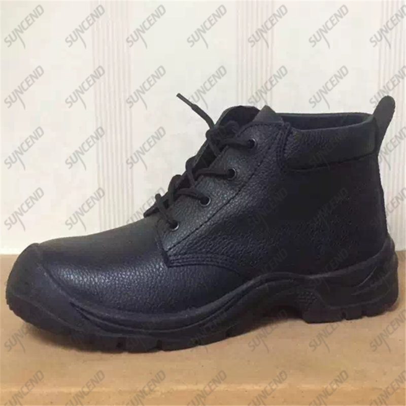 Industrial Construction Mens Leather Iron Anticollision Steel toe Safety Shoes