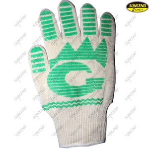 BBQ kitchen cotton heat resistant oven gloves