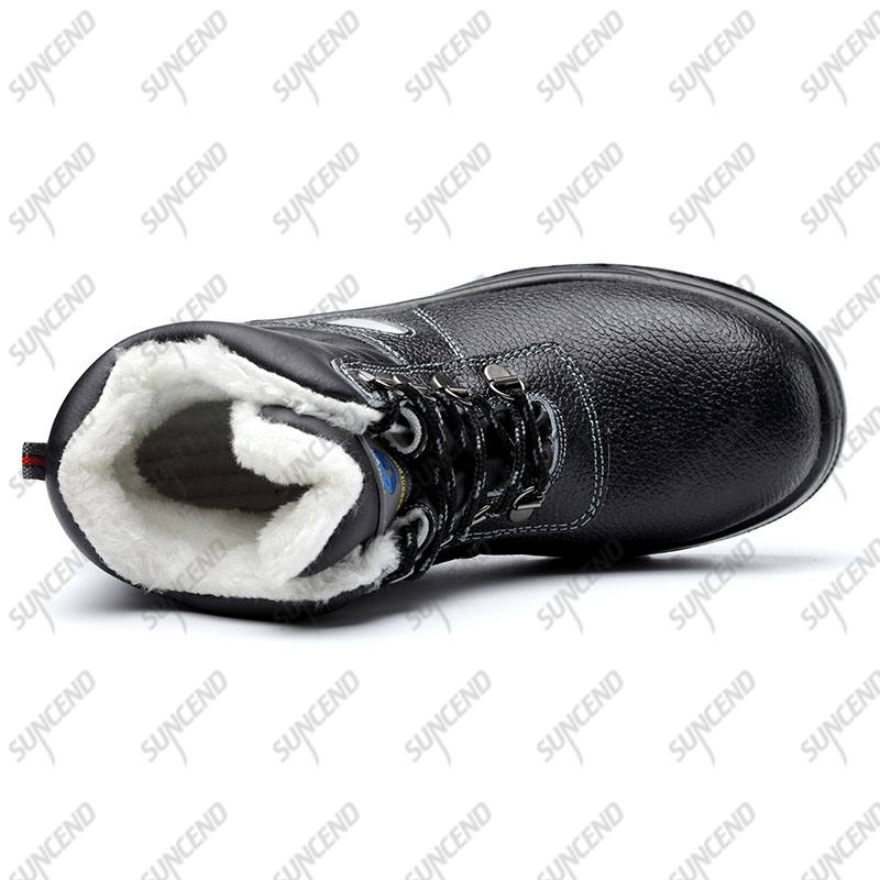 Middle cut genuine leather dual PU sole OEM brand safety shoes