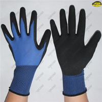 Sandy nitrile coated gardening mechanics work gloves