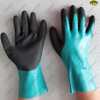 Long cuff sandy nitrile coated nylon liner gloves