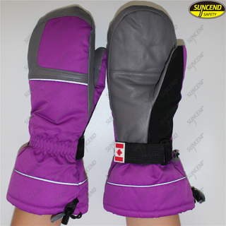Women kids winter heated preservation outdoor sports snowboard ski gloves mitten