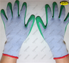 Polycotton liner tear abrasion latex coated crinkle finish hand gloves