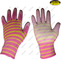 Industrial PU coated palm fit oil resistant glove