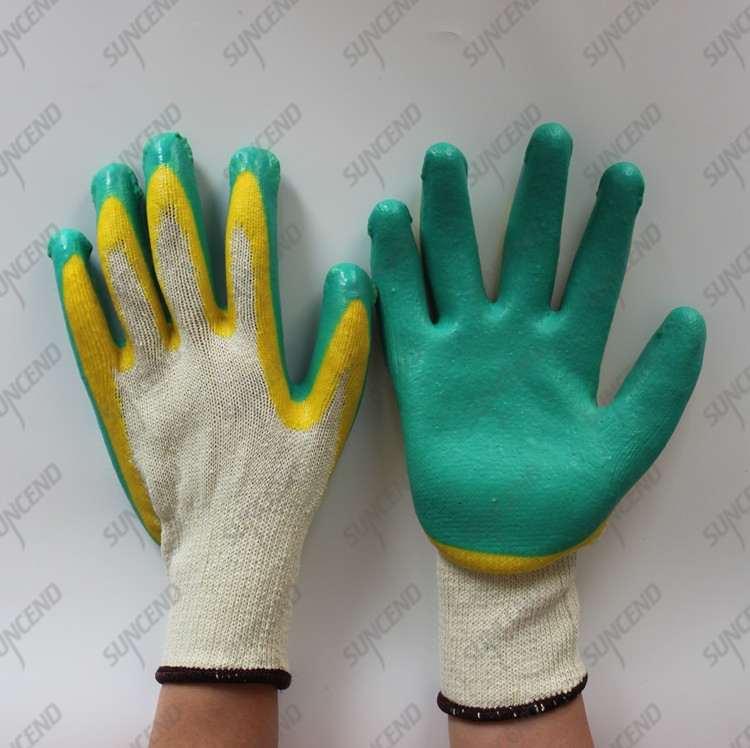 Double latex dipped cotton gloves