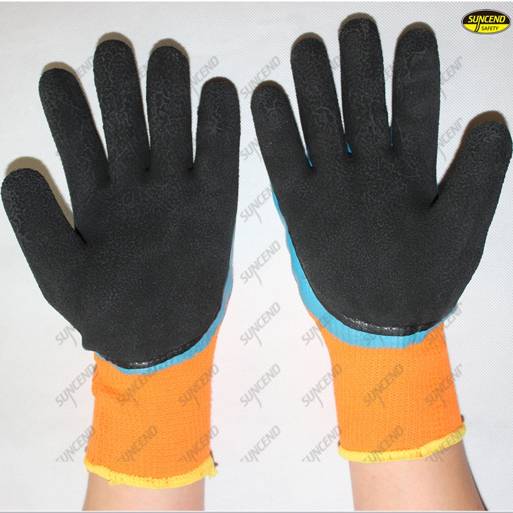 13G polyester liner foam latex coated safety work gloves