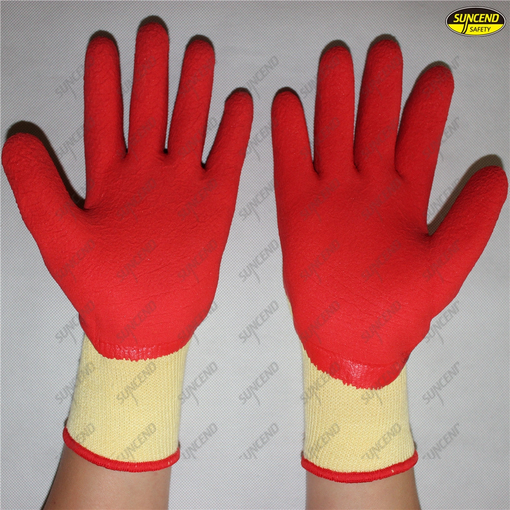 Light weight soft foam latex dipped breathable hand gloves