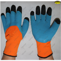 Safety working foam latex coated finger reinforced gloves