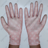 Nylon/polyester Material And White Color PU Fit Antistatic Gloves