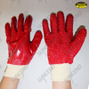 Terry Palm Interlock Liner on Back PVC Fully Coated Gloves with Granule