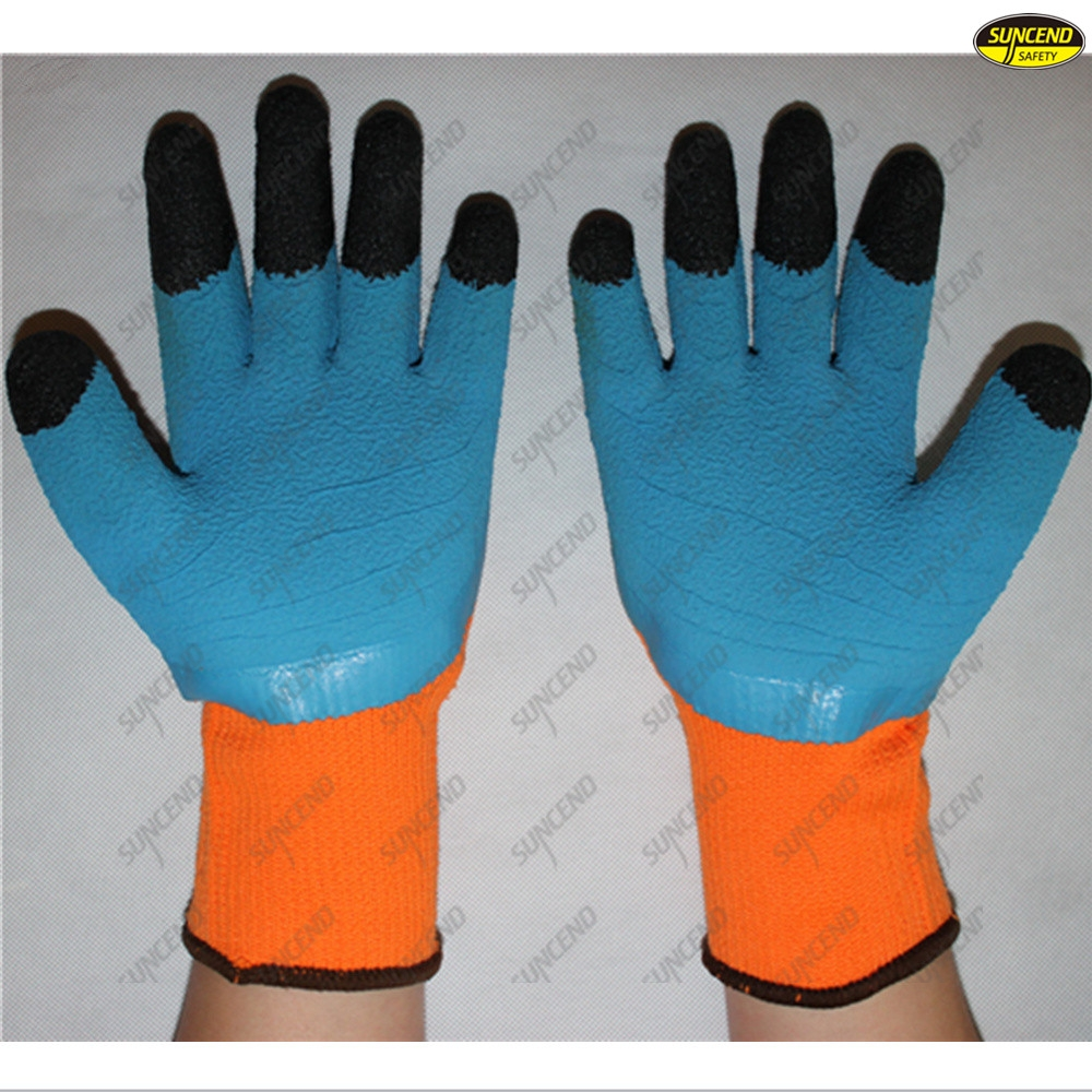 Hand protection foam latex coated safey working gloves