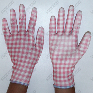 Safety Work Application And Polyester Or Nylon Or Cotton Material PU Gloves