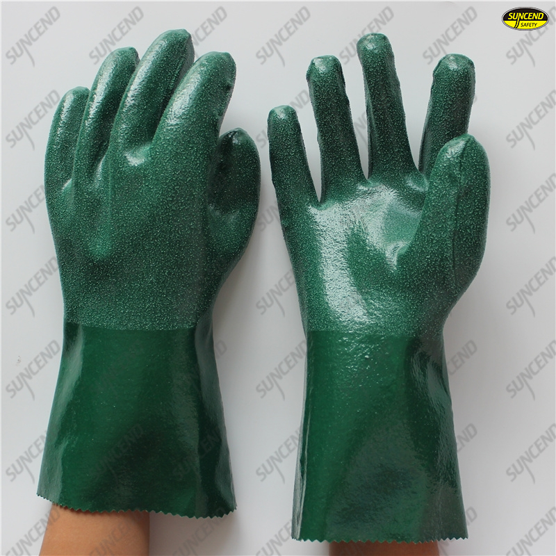 100% thick cotton liner rough anti slip nitrile double coated gloves