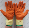 SUNCEND 10 gauge polycotton orange crinkle latex work gloves