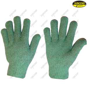 Factory supply cotton knitted safety work gloves
