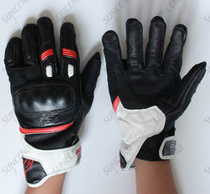 Top Quality Sheep Leather Full Finger Motorcycle Glove