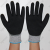 HPPE Liner Nitrile Coated Double Dipped Cut Resistant Gloves with Sandy Finish