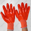 PVC Fully Dipped Working Gloves with Knitted Wrist