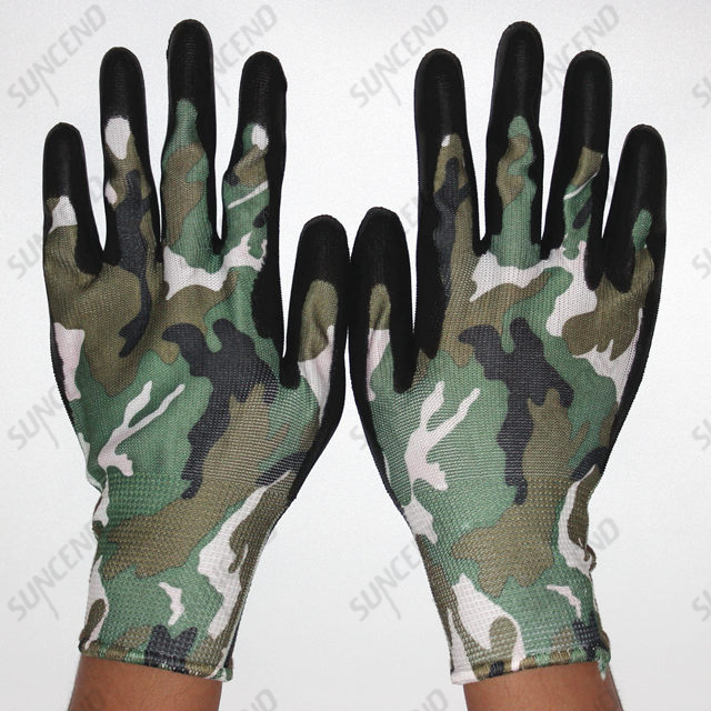 Comfortable PU Coated Smooth Finish Work Gloves