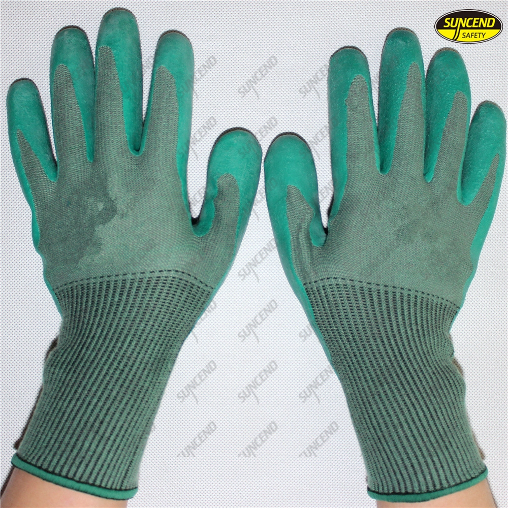 Anti slip texture latex coated industrial work gloves