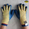 10G Aramid fiber liner blue latex palm and thumb coated cut resistant work glove