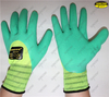 Industry worker latex coated foam finish safety gloves