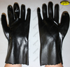 Long sleeve pvc coated hand protective oil resistant gloves