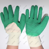 Latex Coated Jersey Lined Anti Abrasion Safety Gloves