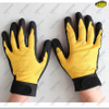 Cold resistant sandy nitrile coated winter gloves