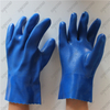11 Inch Double Dip Insulated Blue PVC Sandy Chemical Gloves Gauntlet
