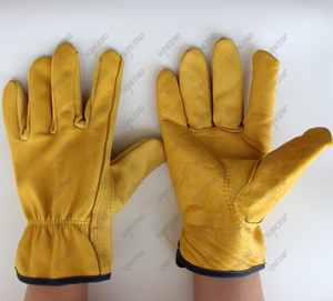 Cold work hand protection safety lobor leather drivers work gloves