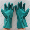 Firm grip anti oil 30cm cotton green full coated foam PVC gloves gauntlet