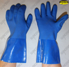 Sandy finish pvc double dipped chemical resistant work gloves