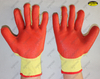 Mechanical industrial natural rubber coated safety work gloves