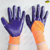 3/4 smooth nitrile coated polyester liner safety work gloves