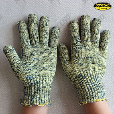 Aramid and steel wire Cut resistant work gloves