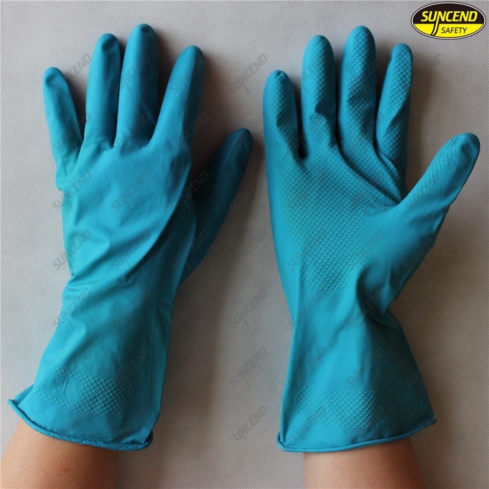 Multi purpose waterproof anti slip cleaning latex household gloves