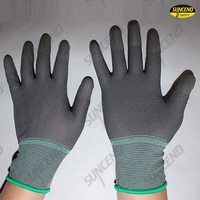 PU fingertips coated work gloves