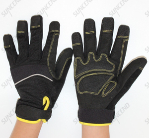 Men's High Abrasion Synthetic Leather Palm Tactical Gloves