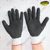HPPE liner black sandy nitrile coated anti-cut work gloves