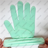 15 gauge nylon spandex knitted lining single palm green PVC dotted women gloves