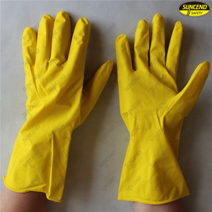 Long waterproof roll cuff latex household gloves