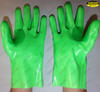 il gas PVC dipped thumb web reinforced chemical resistant long gloves