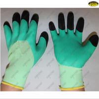 Foam latex coated polyester liner industrial gloves