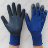 Blue Nylon Knite Comfortable And Breathable Hand Working Gloves With Foam Finish