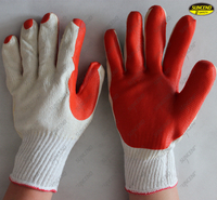 Natural rubber palm coated polycotton liner labor protection gloves