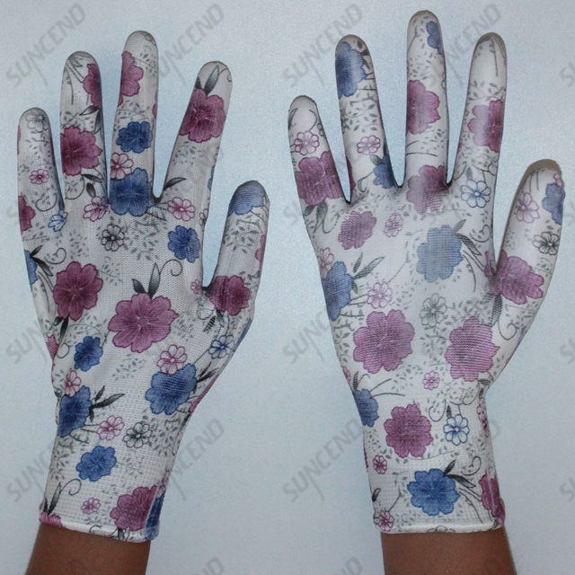 PU Coated Anti-static Smooth Finish Working Gloves