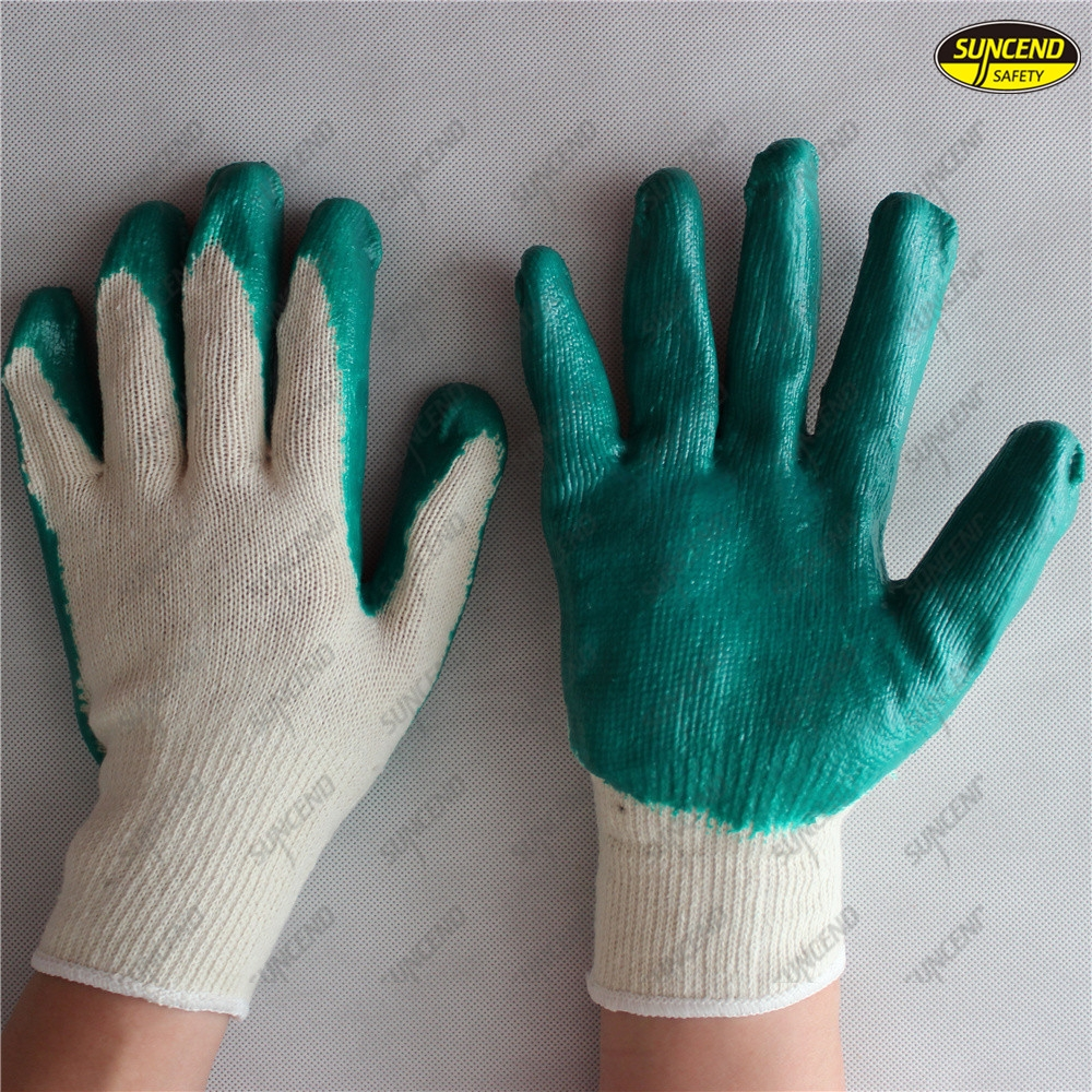 Sample free smooth latex coated safety working gloves