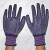 Purple Latex Coated Rough Finish Work Gloves
